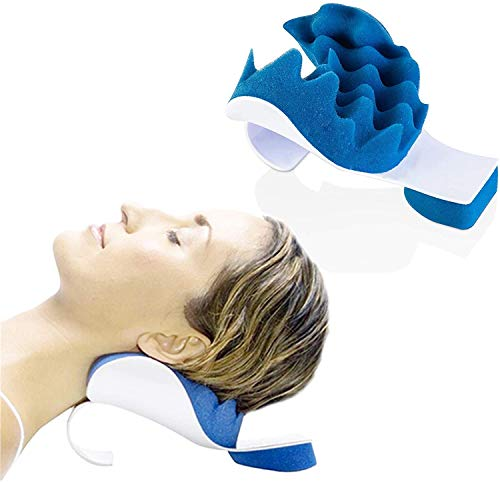 Cervical Chiropractic Pillow Neck and Shoulder Relaxer, Neck Support Shoulder Relaxer Massage Traction Pillow Chiropractic Pillow for Pain Relief Management and Cervical Spine Alignment Neck Stretch
