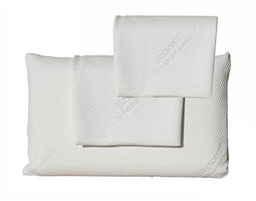 Visko Schlafkissen-Kopfkissen-HWS Kissen/Kissen aus viscoelastischem Gel-Schaum - Überzug Tencel mit Neutraliser-Therapy; ca. 80x40x12cm
