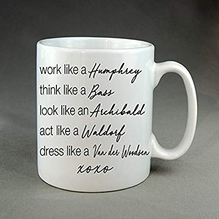 Migliore idea regalo per Gossip Girl Serie TV Fan,Lover.Women,Men Boys,Girls.Christmas,11 oz Chuck Bass Mug.Single,Taken,Mentally Dating Coffee,Tea Cup