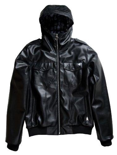 L1 Premium Outerwear Herren Lederjacke Let it Bleed, Black Pleather, S