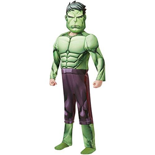 Rubie's - Déguisement Luxe Officiel - Hulk Serie Animée, enfant, I-640839M, Taille M 5 à 6 ans