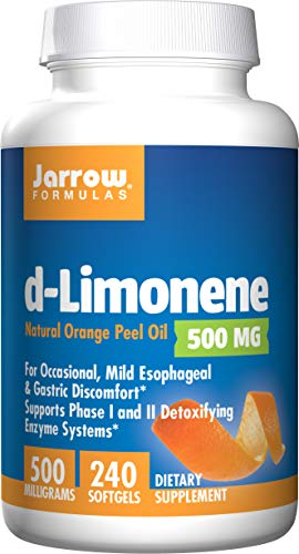 Jarrow Formulas D-Limonene, Stimulates Phase I and Phase II Detoxifying Enzyme Systems As Well As The Overall Immune System*, 240 Softgels