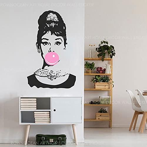 Calcomanía de vinilo para pared con goma de mascar para el Interior del hogar, decoración de moda, tienda de maquillaje, sala de estar, dormitorio, calcomanía para ventana, Mural 2073
