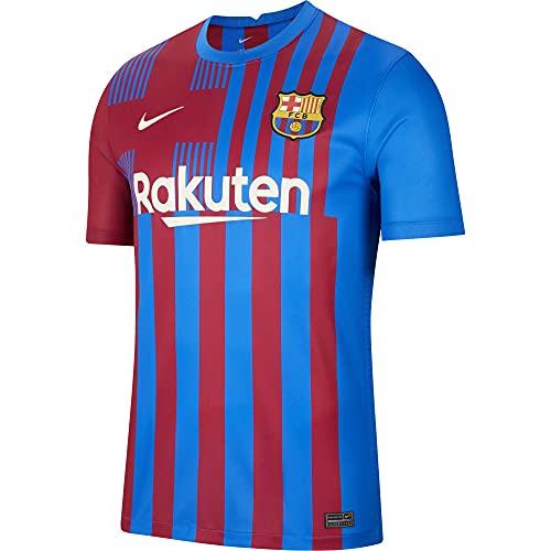NIKE CV7891-428 FC Barcelona 2021/22 Stadium Home T-Shirt Mens Soar/Pale Ivory XL