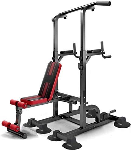 Banco de pesas con dominadas para entrenamiento multifunción doméstico, banco de pesas ajustable