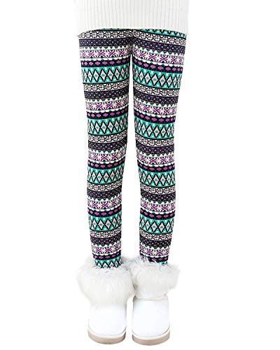 BOOPH Girls Winter Thick Warm Pant Fleece Lined Leggings 9-10 Years Bohemian