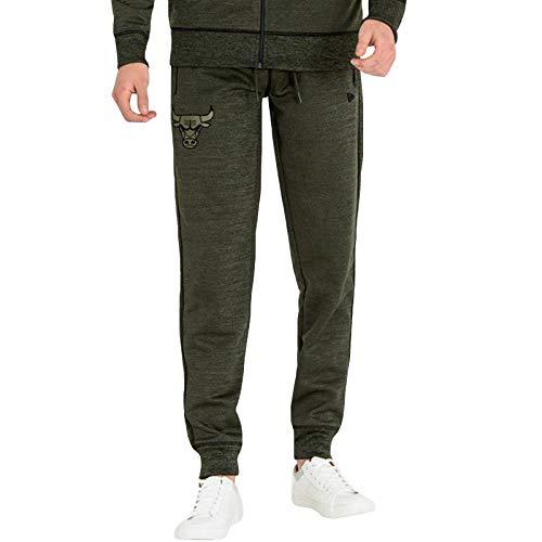 New Era - Pantalones de chándal para hombre, diseño de los Chicago Bulls Verde verde XS