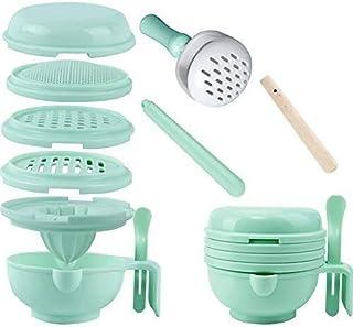 WINGOFFLY 9 در 1 فنجان غذا قابل حمل تغذیه کودک تغذیه پردازنده غذای خرد کننده خدمت سبزیجات فست فود