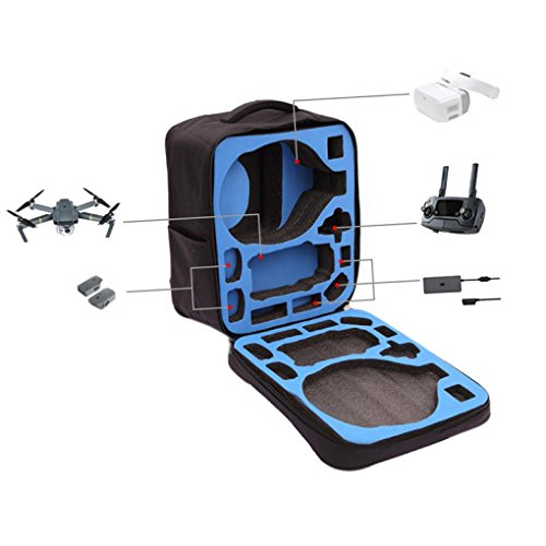 Nacome Outdoor Waterproof case Shoulder Backpack Bag For DJI Mavic Pro RC Drone + DJI VR Goggles (Black)