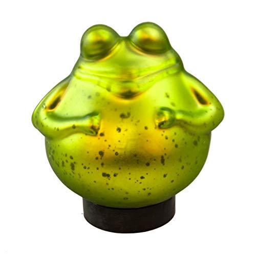 Exner Schwimm-Frosch groß Maße 15cm x 15cm in grün/matt aus Glas