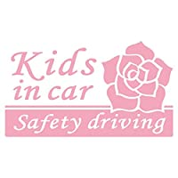 imoninn KIDS in car ステッカー 【シンプル版】 No.40 バラ (ピンク色)