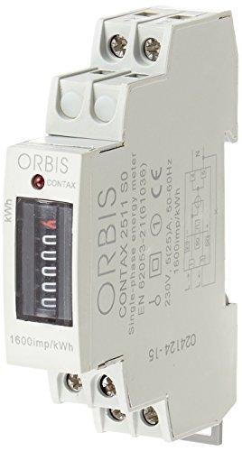 Orbis Contax 2511 SO 230 V analógico de energía Contador, OB701000