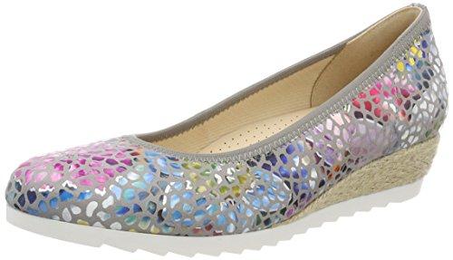 Gabor Shoes Damen Comfort Sport Geschlossene Ballerinas, Grau (Stone (Jute), 40 EU