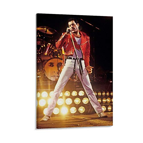 Queen Freddie Mercury Wallpaper Cover 1 Canvas Art Poster and Wall Art Picture Print Modern Family Bedroom Decor Posters 16x24inch(40x60cm)