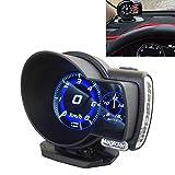 BBINGFANG-W Medidores OBD del coche de múltiples funciones Digital Turbo Boost medidor de presión de aceite de alarma Velocidad en el agua de temperatura Indicador de la herramienta de diagnóstico de