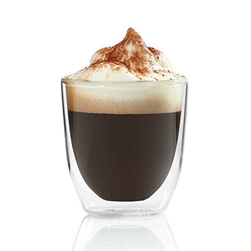 Dimono Doppelwandiges Espressoglas 80ml Espressotasse aus Glas Espresso Tasse
