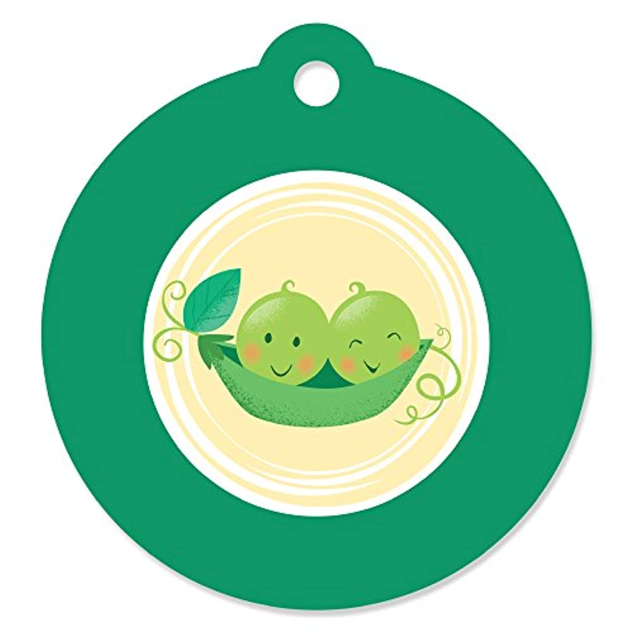 Double The Fun - Twins Two Peas in a Pod - Baby Shower or First Birthday Party Favor Gift Tags (Set of 20) nvlh260862771