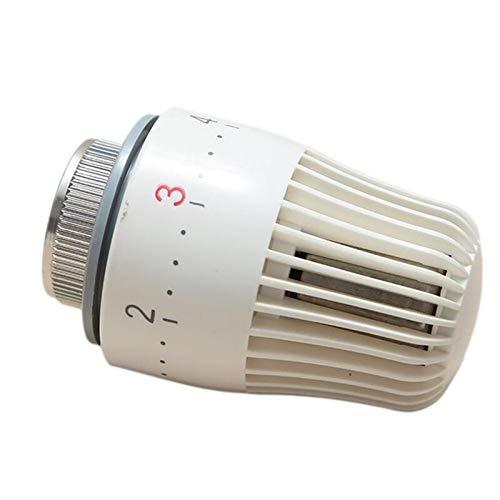 JGFJ Válvula de radiador termostática de fontanería Sistema de calefacción Válvulas de control de temperatura neumáticas ABS y metal Válvula de radiador termostática Inicio