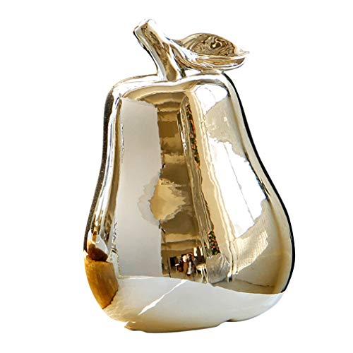 perfk Keramik Birnenförmige Ornament Figur Künstliche Simulation Dekor - Golden
