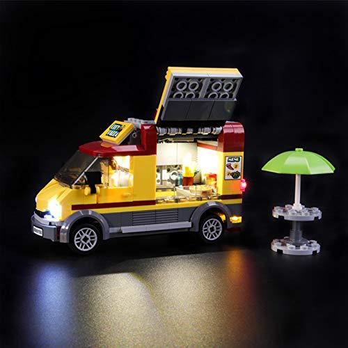 Kit de LED pour Lego City Le Camion Pizza, Jeu De Lumiere Compatible avec Lego 60150 (Lego Modèle Non Incluse)
