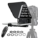 【Official】 Desview T3 Teleprompter, Teleprompters for Smartphone Tablets up to 11 inch 70/30 Beam Splitter Glass with Remote Control for Camera Video Recording, Desview-T3-iPad-Tablet-Teleprompter