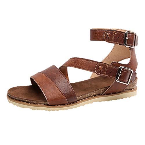 Damesriemjessandalen damesschoenen blokhak gesp sandalen & sandaletten strand Open Toe schoenen Romeinse schoenen By Vovotrade