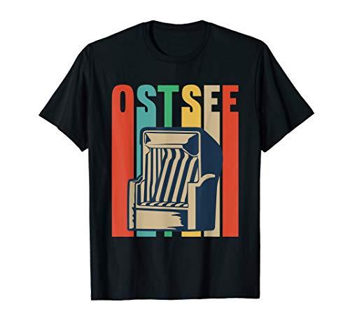 Ostsee Strandkorb Design für einen Urlaber T-Shirt