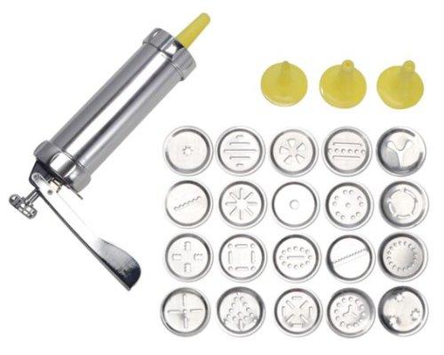 HI Gebäckpresse aus Aluminium mit 20 Aufsätzen und 4 Spritzaufsätzen 17005
