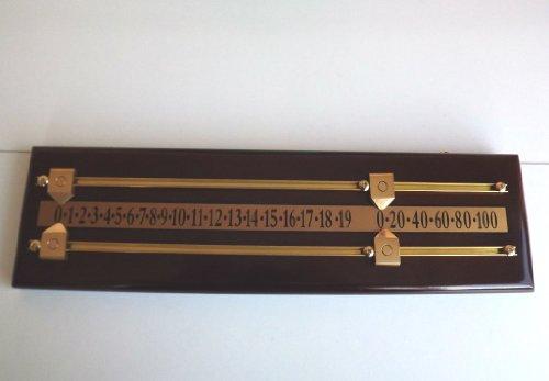 LGS Mahogany Mini Snooker Scoreboard by SGL