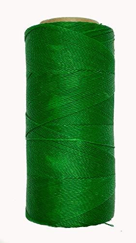 LINHASITA Garnspule, gewachst, 100 g / 360 Meter, Dicke: 0,5 mm, Polyester, Makramee-Garn, 30 Farben - grün