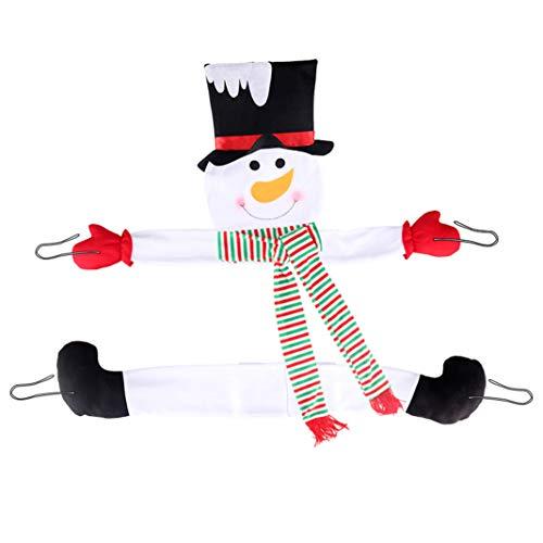 GLJYG Decoración para árbol de Navidad, diseño de muñeco de nieve, color blanco