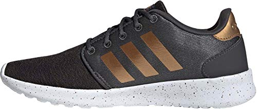 adidas Womens QT Racer Sneaker, Grey/Tactile Gold Metallic/Footwear White, 40 EU