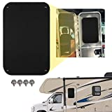 TEUVO RV Door Window Shade, 16 x 24 Inches Privacy RV Door Window Covers for Motorhome, Travel Trailer and Camper Sunshade Privacy Screen, UV Rays Protection Sun Shade Blackout, Waterproof, Black