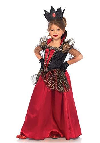 Leg Avenue kinderen meisjes boos koningin kostuum zwart rood Medium multicolor