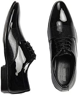 DE LOYON Men's Black Shining NT Formal Shoes