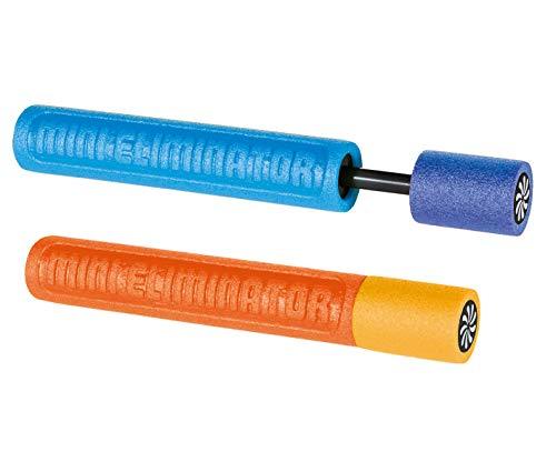 Smart Planet 2er Set Wasserspritzpistole Schaumstoff Wasserpistole Eliminator 33 cm - Wasserspritze blau und orange Wasser Spritze