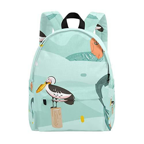zee-meid met toekan vogel school rugzakken boek tas tiener student meisje vrouwen college rugzak boekentas mode reizen dagtas