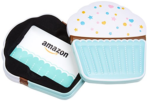 Product Image of the Amazon.com Gift Card in a Birthday Cupcake Tin