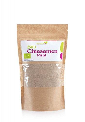 Vitavitee Bio Chiasamenmehl teilentölt Bio Chia Mehl (1000 g)