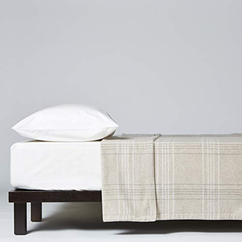 Lanerossi - Manta de matrimonio Ca' D'Oro, 210 x 250 cm, 80% Lambswool de Merinos, 20% poliamida, marrón