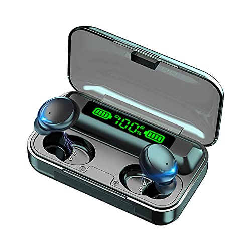 Auriculares Bluetooth 5.0, inalámbricos, con control táctil IPX7, impermeables, con caja de carga y micrófono, estéreo, para iPhone y Android