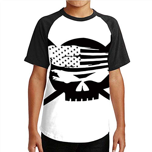 C COABALLA Ironworker America Flag,Unisex Casual 3D Print Short Sleeve T-Shirt Tees S