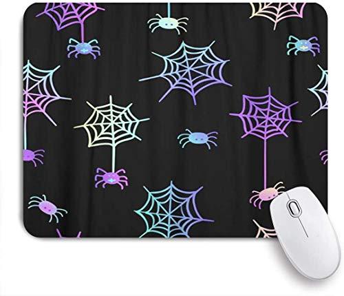 NOLYXICI Mauspad - Niedlich auf schwarzem Pastellgott, ideal für Halloween-Party und Flyer-Grußbild - Gaming und Office rutschfeste Gummibasis Mauspads,240×200×3mm