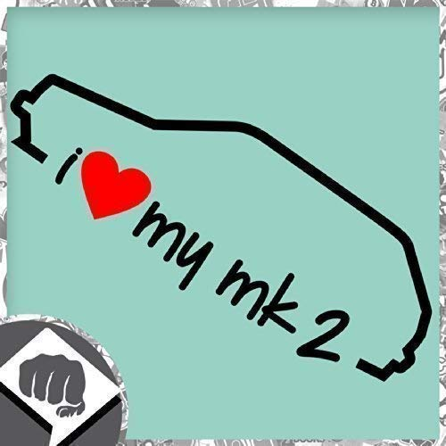 Unbekannt I Love My MK - MK 2 Sticker Bomb Autocollant OEM - Dub - Noir, l'intérieur de l'adhésif