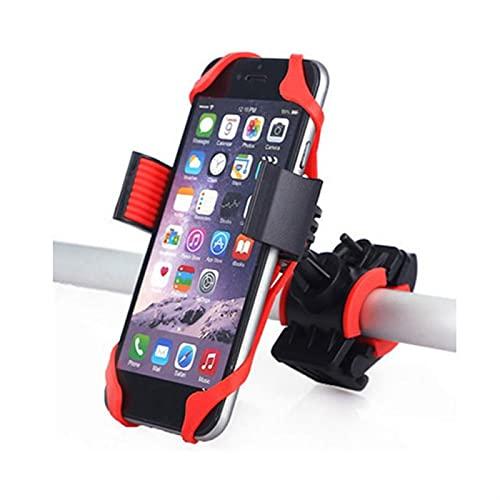Titular del teléfono de la Bicicleta, Motorcia Giratoria Bicicleta Manillar Bicicleta Motocicleta Soporte para (Color Name : Red)