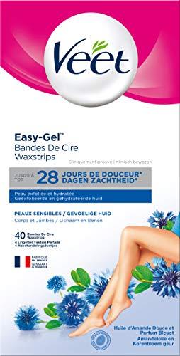 Veet - Bandes De Cire Froide Easy-Gelwax Peaux...