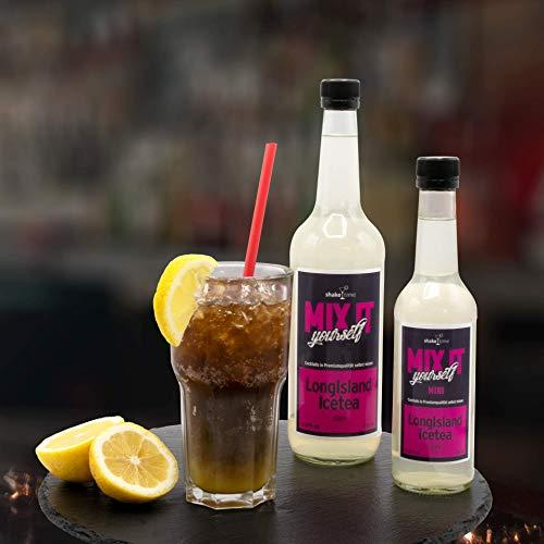 Cocktailmix Long Island Ice Tea 350 ml | Premix Fertigmix für 5 Cocktails | Premiumqualität zum selbst mixen | mit hochwertigen Spirituosen Cocktailparty