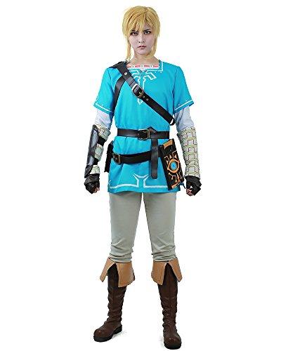 miccostumes Men's Breath Wild Link Cosplay Costume (Men m) Blue