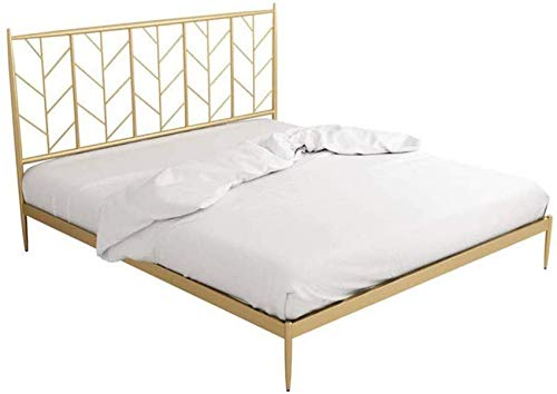 Bedroom Bed Frames Modern Metal Bed Frame in The Bedroom, Light and Simple Hotel Double Single Bed Mildew Proof Moisture-proof, The Load-bearing Capacity Can Reach More Than 400kg
