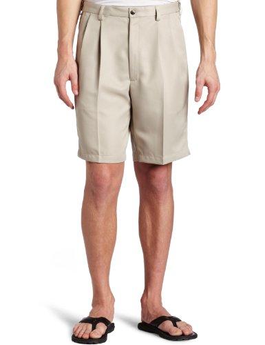 Haggar Men's Big-Tall Cool Gabardine Pleat Front Short, String, 44
